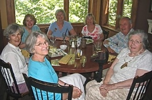 Prudy, Judy, Jackie, Elaine P., Bonnie, Jim and Jo--some of our Board Members